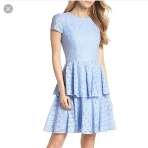 Gal meets glam daisy lace dress oxford blue size20
